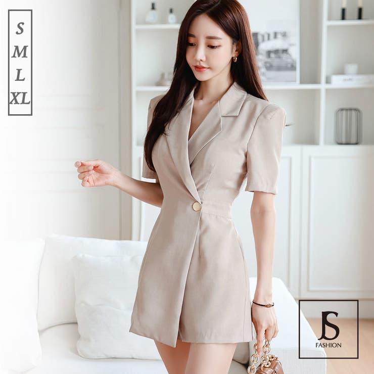 オールインワン パンツドレス 襟付き | JS FASHION | 詳細画像1