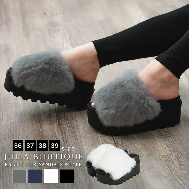 JULIA BOUTIQUEのシューズ・靴/ファーサンダル | 詳細画像