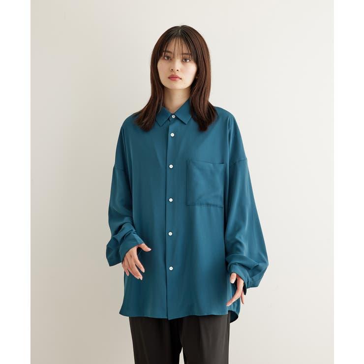 オーバーサイズドレープシャツ   JUNRed   詳細画像1