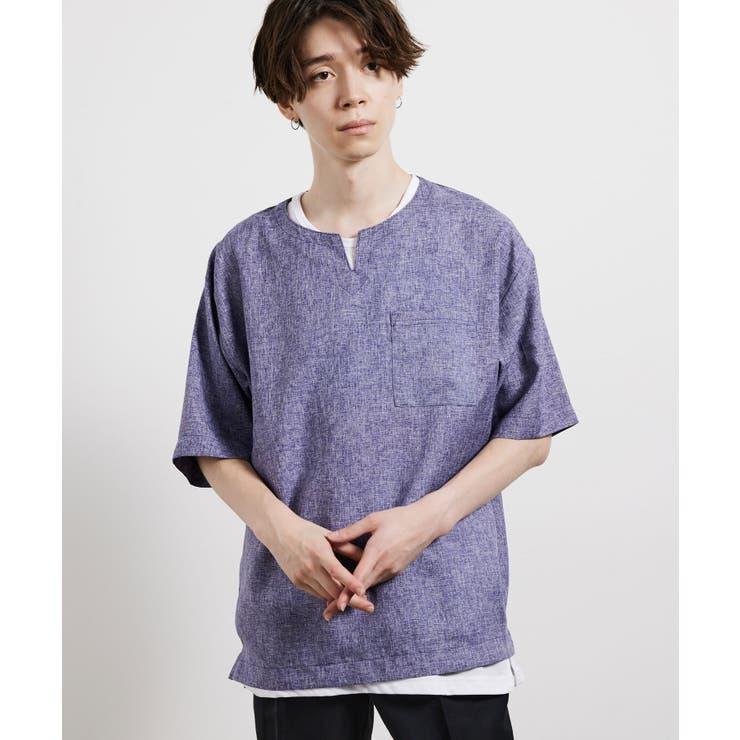 ヘザークロスアンサンブルTシャツ | JUNRed | 詳細画像1