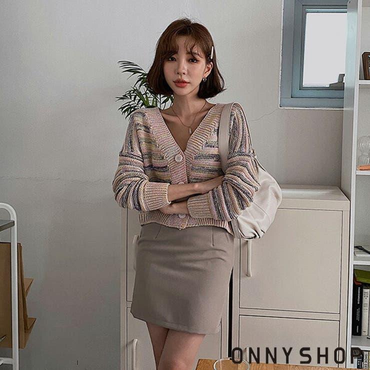パステルクロップカーディガン P000CLMD 韓国 | ONNY SHOP | 詳細画像1