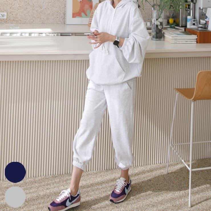 綿100%フード付きパーカー&ジョガーパンツセットアップ 授乳服 長袖 | ETTE | 詳細画像1
