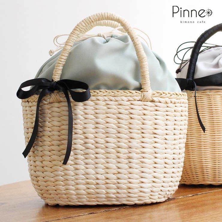 Pinneオリジナル リボン付きかごバッグ 全4種 ラタン メイズ | kimonocafe | 詳細画像1