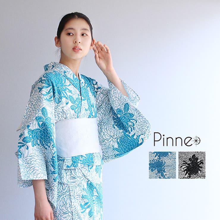 pinne浴衣3点セット 乱菊 フリーサイズ | kimonocafe | 詳細画像1