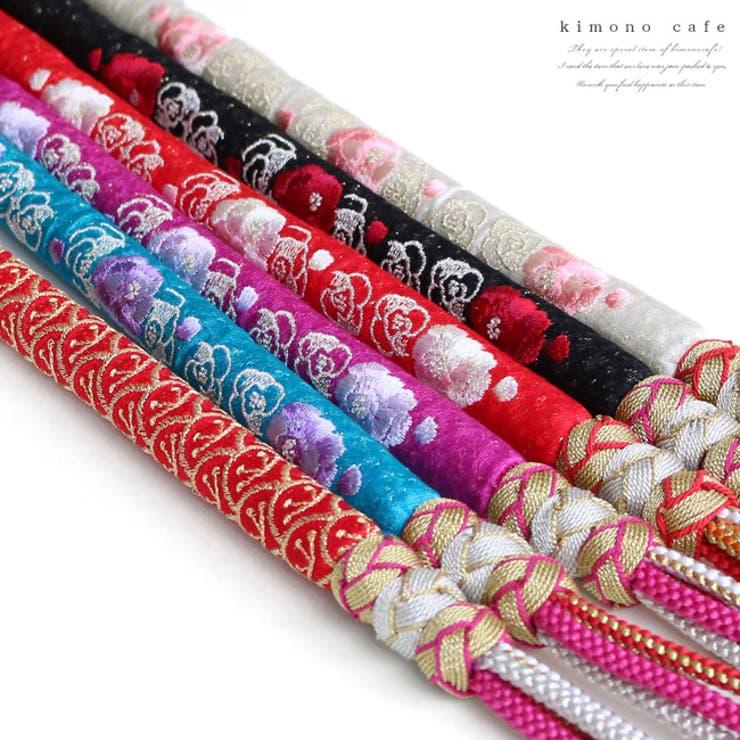 薔薇刺繍の丸ぐけタイプ正絹帯締め | 詳細画像