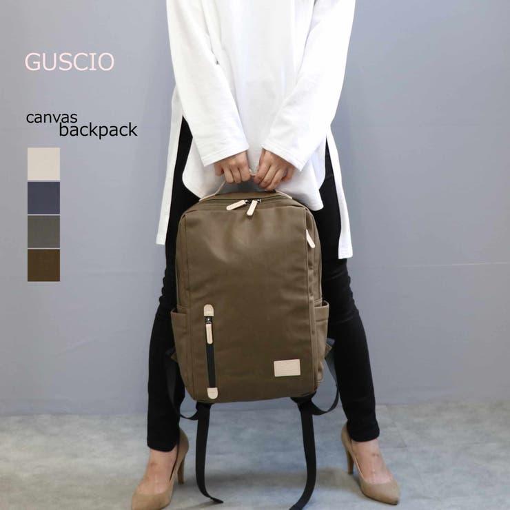 GUSCIO キャンバス 大容量 スクエア リュックサック 19-8042 | GUSCIO | 詳細画像1