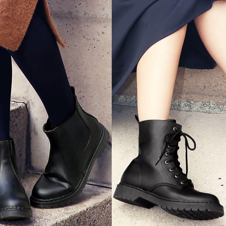 トレンドボトムとも相性◎履きやすさに評価大!2TYPE[レースアップ/サイドゴア]ブーツ/シューズ[I1209]