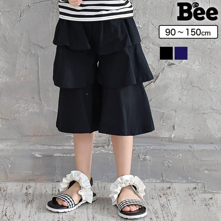 韓国子供服Bee 3段ティアードガウチョ 女の子   子供服Bee   詳細画像1