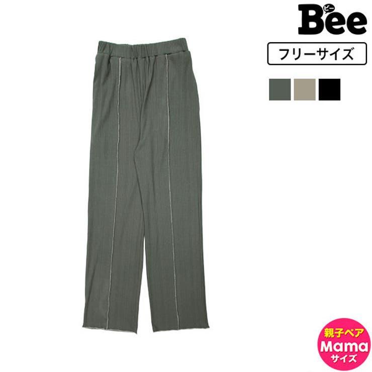 センタープレスパンツ レディース 無地   子供服Bee   詳細画像1