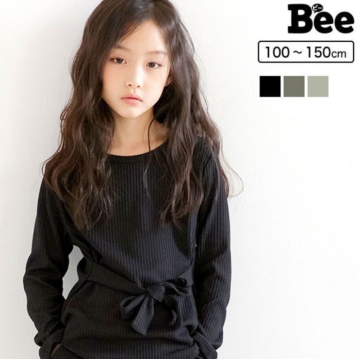 リブ地長袖トップス 子供服 キッズ 女の子   子供服Bee   詳細画像1