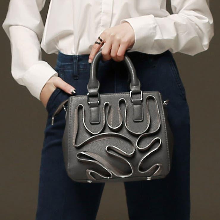カジュアルジッパーデザインバッグ