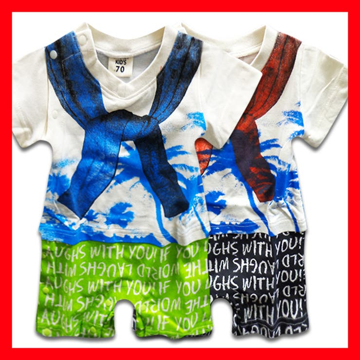 韓国子供服 半袖カバーオール 男の子韓国子供服 | 子供服バナナ小僧  | 詳細画像1