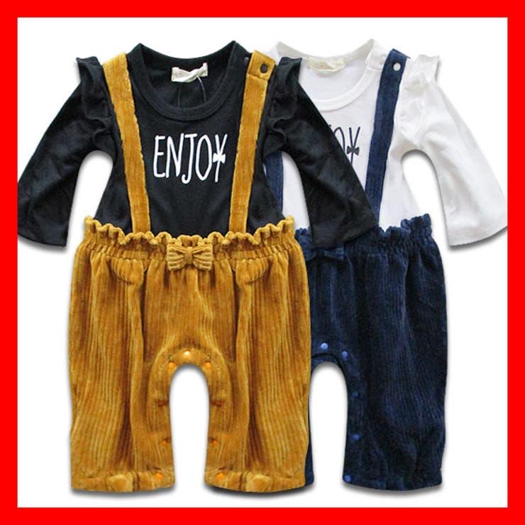 韓国子供服 女の子 長袖カバーオール子供服 | 子供服バナナ小僧  | 詳細画像1