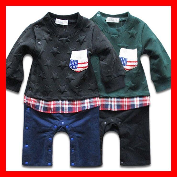 韓国子供服 長袖ロンパース子供服韓国子ども服70cm 80cm | 子供服バナナ小僧  | 詳細画像1