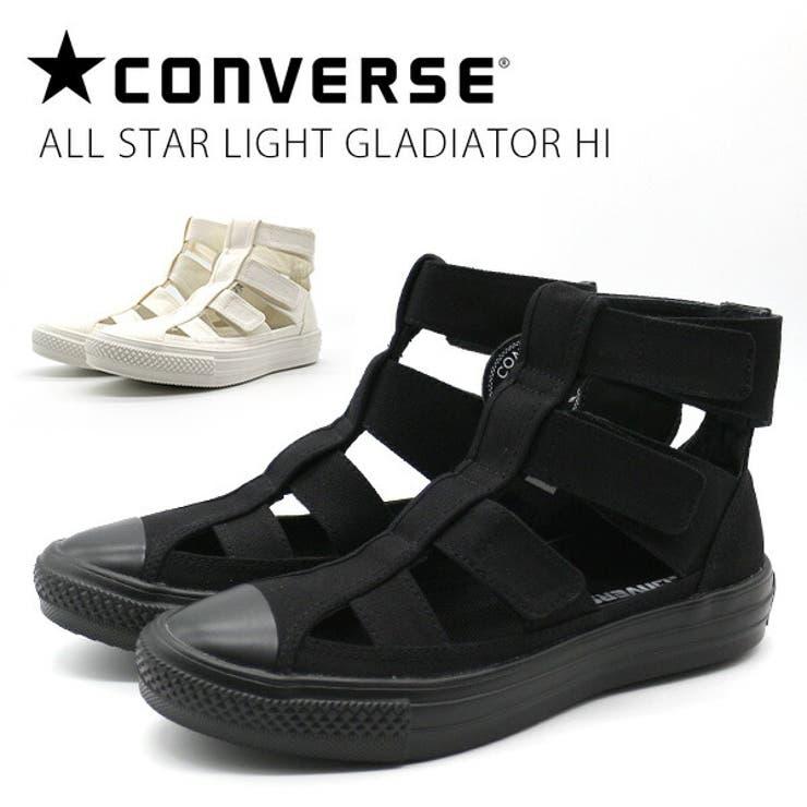 コンバースレディース靴ハイカット黒ブラック白ホワイトグラディエーターサンダルALLSTARLIGHTGLADIATORHI   詳細画像