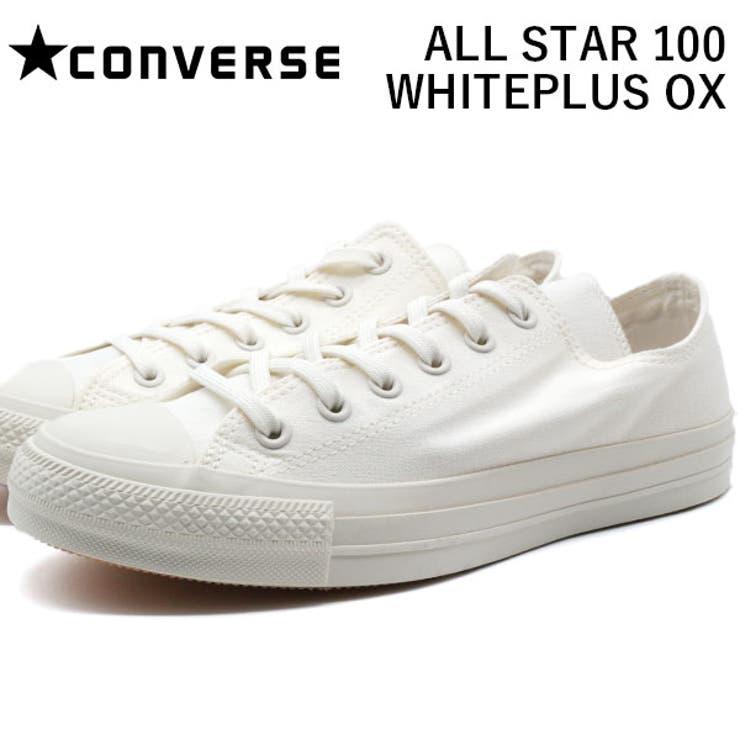 コンバースオールスタースニーカーメンズレディース靴白ホワイト抗菌CONVERSEALLSTAR100WHITEPLUSOX   詳細画像