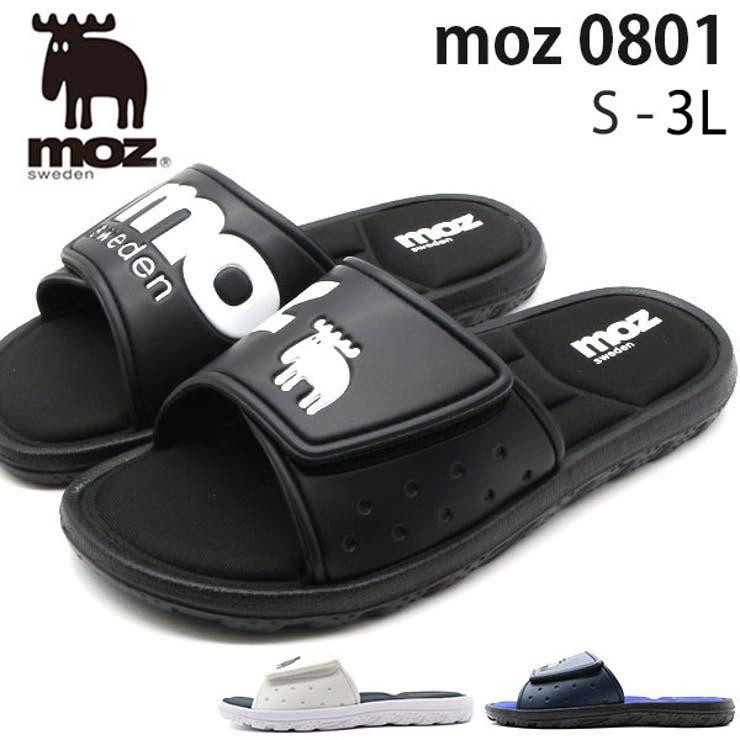 サンダルメンズ靴黒白ブラックホワイトネイビーシャワーサンダルビーチサンダル軽量軽いモズmoz0801   詳細画像