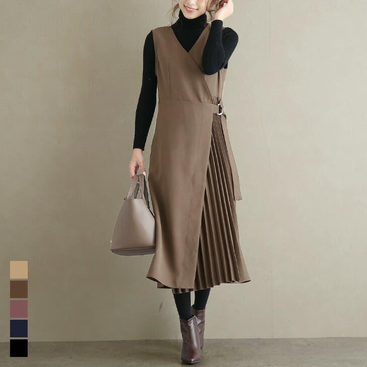 韓国ファッション プリーツ ワンピース   La-gemme   詳細画像1
