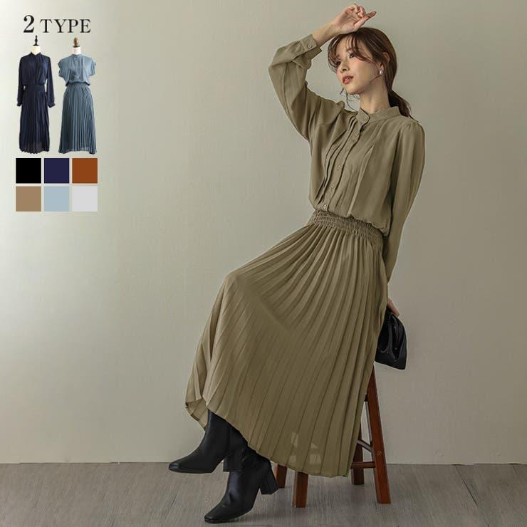 韓国ファッション 人気 プリーツワンピース | La-gemme | 詳細画像1
