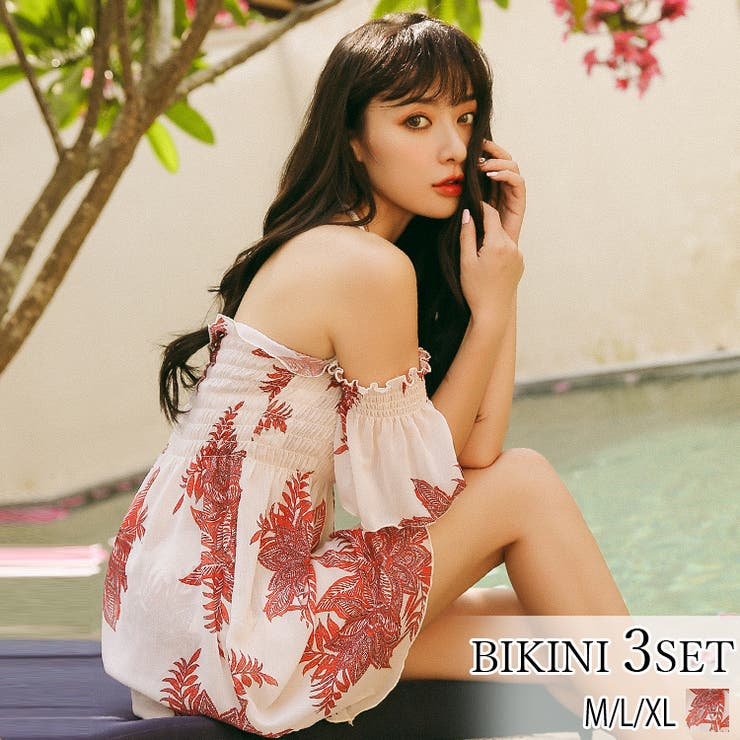 水着ビキニ3点セットレディースファッション通販新作 水着 mizugi | La Bella | 詳細画像1