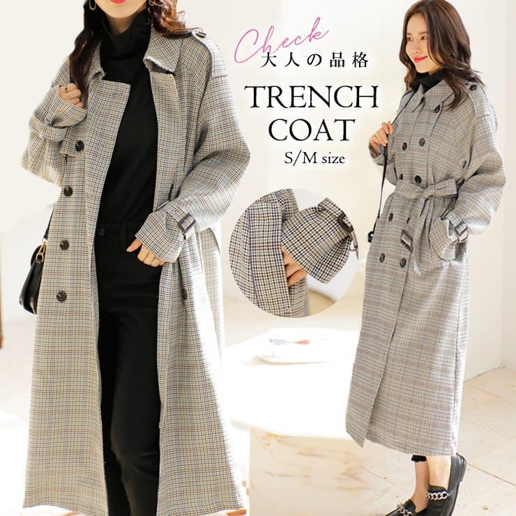 韓国 ファッション トレンチコート | cici bella | 詳細画像1