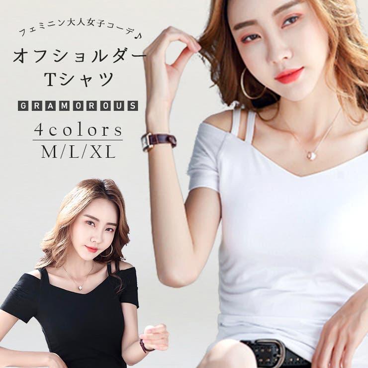オフショルトップス Tシャツ デコルテライン | JESSICA | 詳細画像1