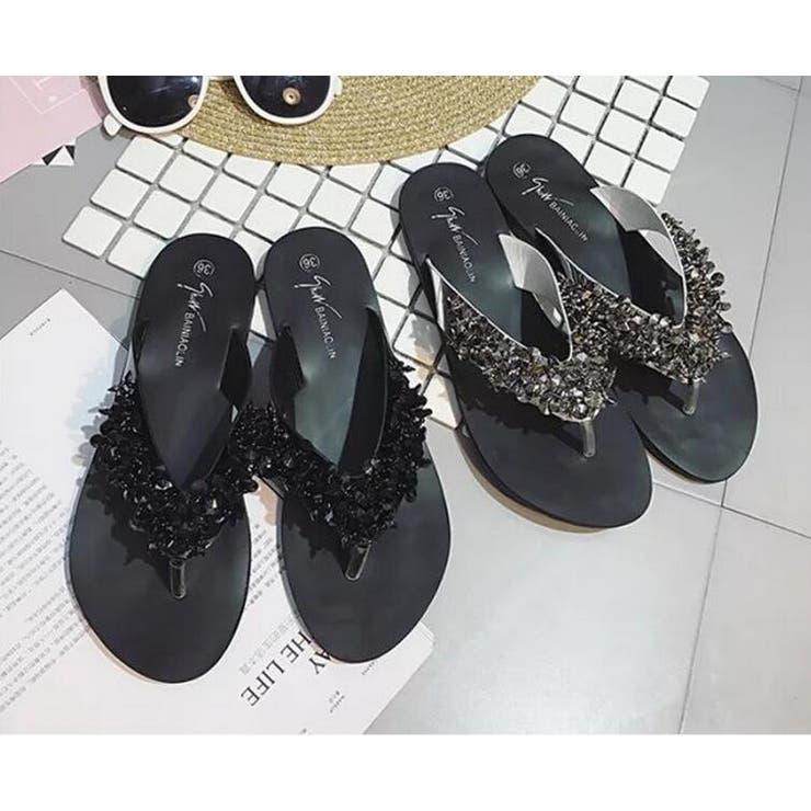 ビジューサンダル ビーチサンダル 靴 | Lady Girls | 詳細画像1