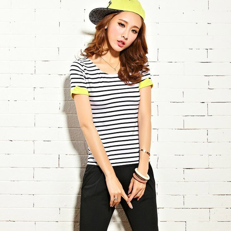 Tシャツ ブラック ブルー2色 | JESSICA | 詳細画像1