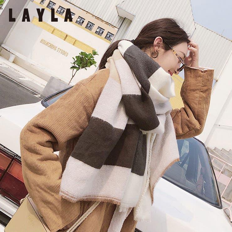 格子柄超BIGストール ファッション通販 女性   LAYLA   詳細画像1