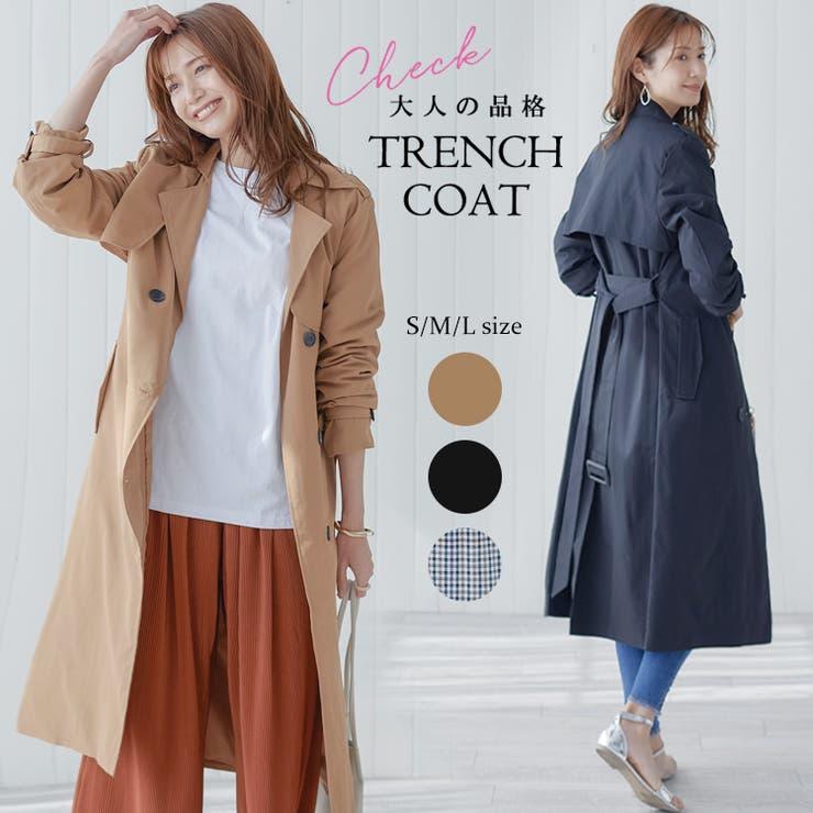 韓国 ファッション トレンチコート | La Bella | 詳細画像1
