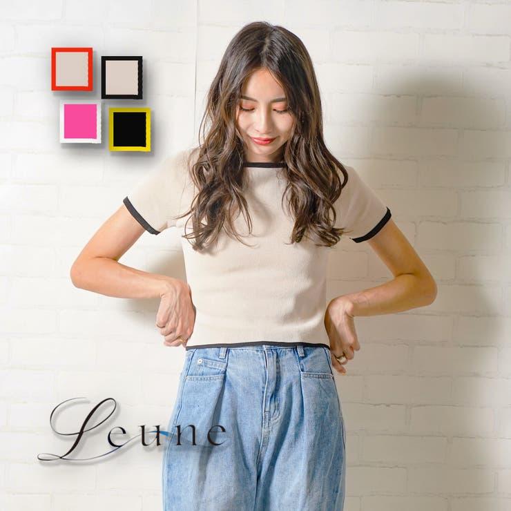 スクエアネックリンガーTシャツ | leune  | 詳細画像1