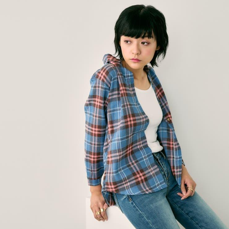 チェックオーバーシャツ | leune  | 詳細画像1