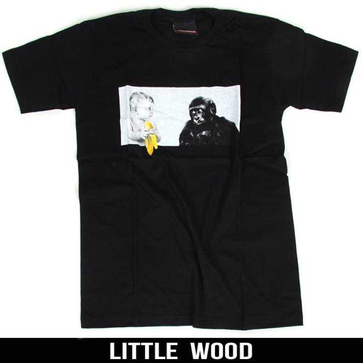 チビゴリラ ベビー プリント 半袖 tシャツ【T456】キッズ ジュニア 子供服 レディース メンズ