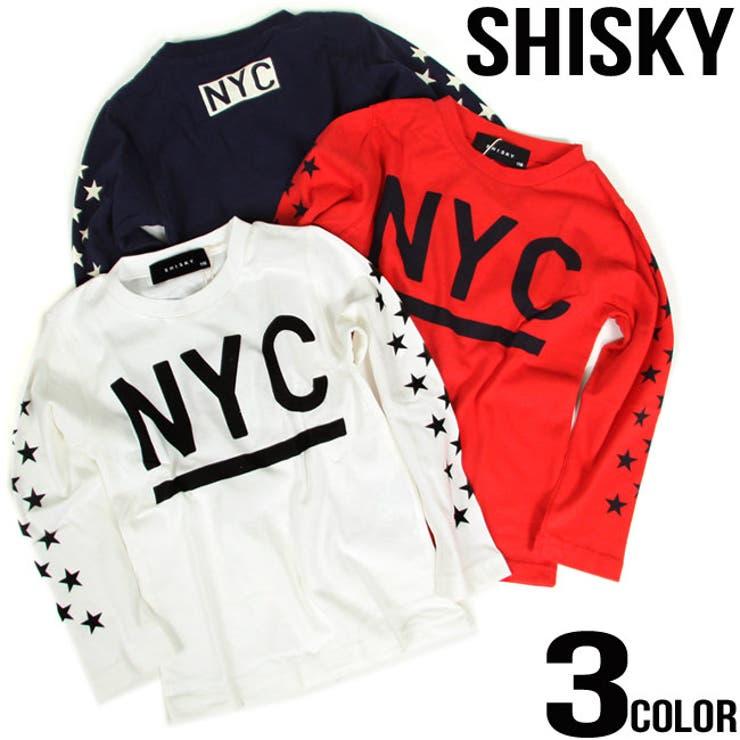 �V�X�L�[ SHISKY NYC �X�^�[ �v�����g ���� t�V���c�y16AW-DV523�z346-06/�H�~/�g�b�v�X