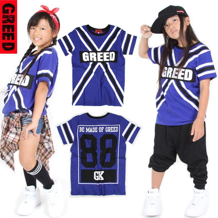 グリード GREED クロスプリント tシャツ 175cm 【16AW-N507】GK277-42 ダンス 衣装 ヒップホップ