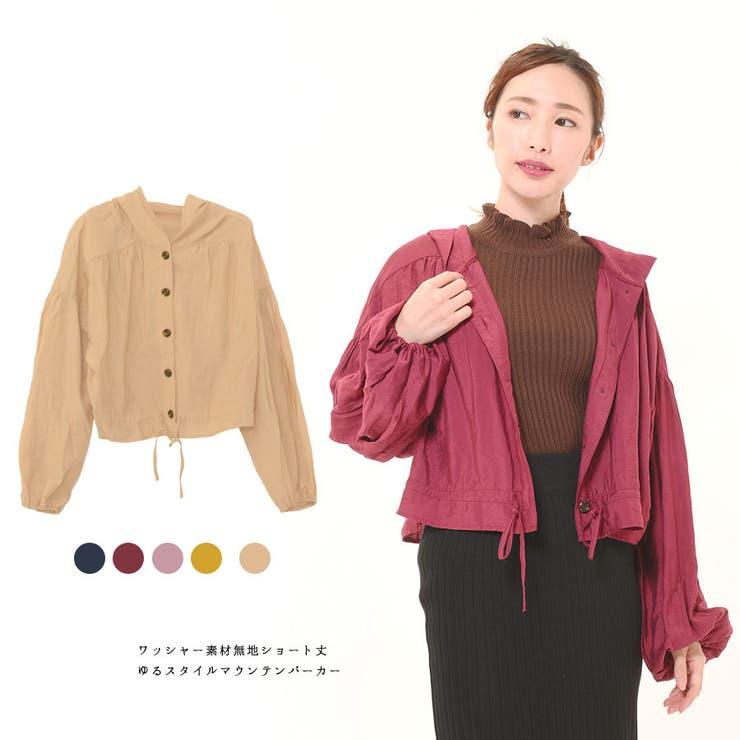 ■シアーシャツ■ ワッシャーシアーブルゾン | CLOTHY | 詳細画像1
