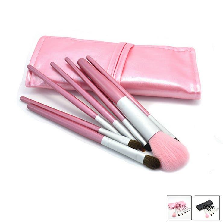 メイクブラシ コスメセット ブラシセット 化粧道具 7本セット 持ち歩けるサイズ レディース おしゃれアイテム