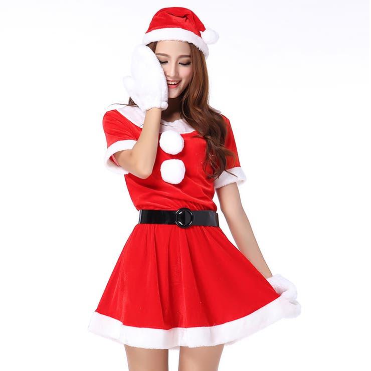 サンタ コスプレ レディース 大きいサイズ L XL クリスマス Christmas Xmas サンタクロース サンタ サンタコスコスチューム ワンピース 衣装