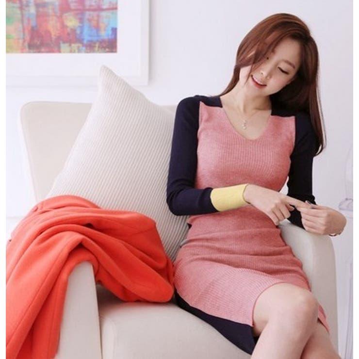 【韓国 ファッション】秋冬レディース 長袖 タイトワンピース OL風ワンピース 薄手 ワンピース 大きいサイズ XL♪