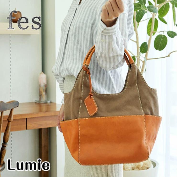 fes/フェスカウレザー×キャンバス ハンドバッグ | Lumie | 詳細画像1