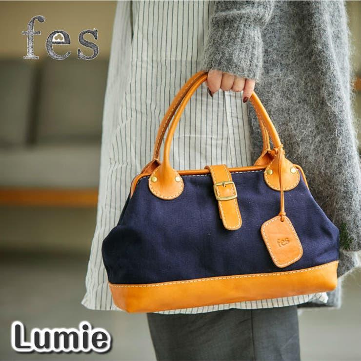 fes/フェス キャンバス×カウレザー ボストンバッグ | Lumie | 詳細画像1
