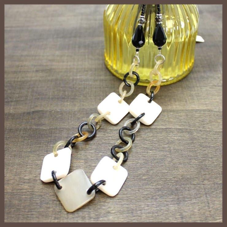 【水牛の角】コンビカラーのリングネックレス【日本製】