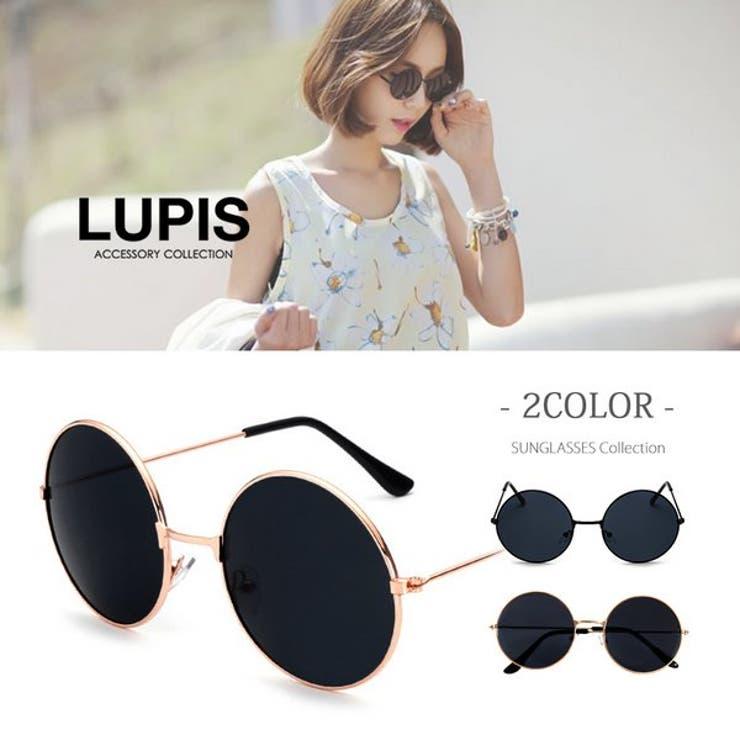 ブラックレンズラウンドサングラス  | LUPIS | 詳細画像1