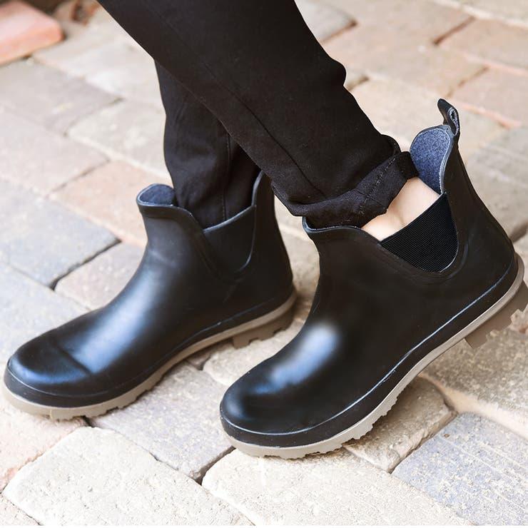 サイドゴア・ショートレインブーツ/長靴/シューズ/サイドゴア風/雨天/雪/ガーデニング/雑貨/小物