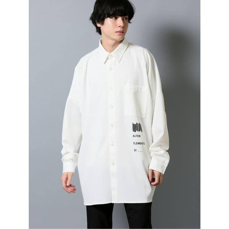 アーチ刺繍 長袖BIGシャツ | TAKA-Q MEN | 詳細画像1
