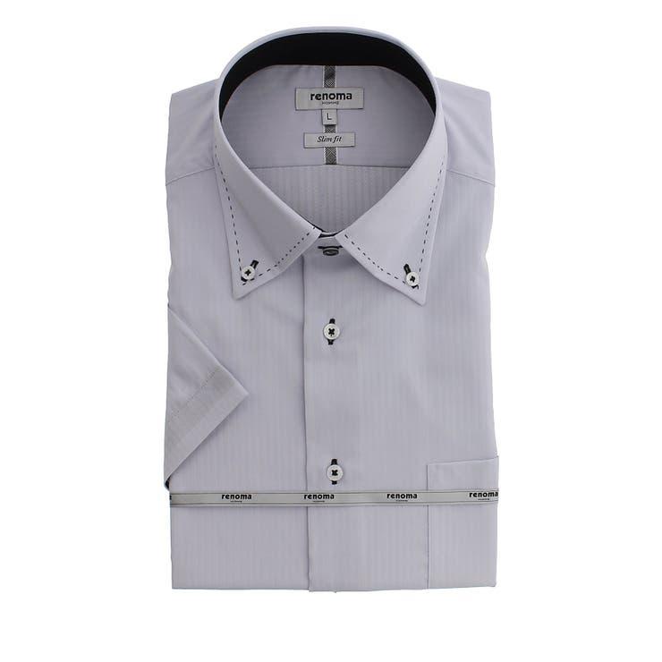 アイスカプセル形態安定 スリムフィット ボタンダウン半袖シャツ | TAKA-Q MEN | 詳細画像1