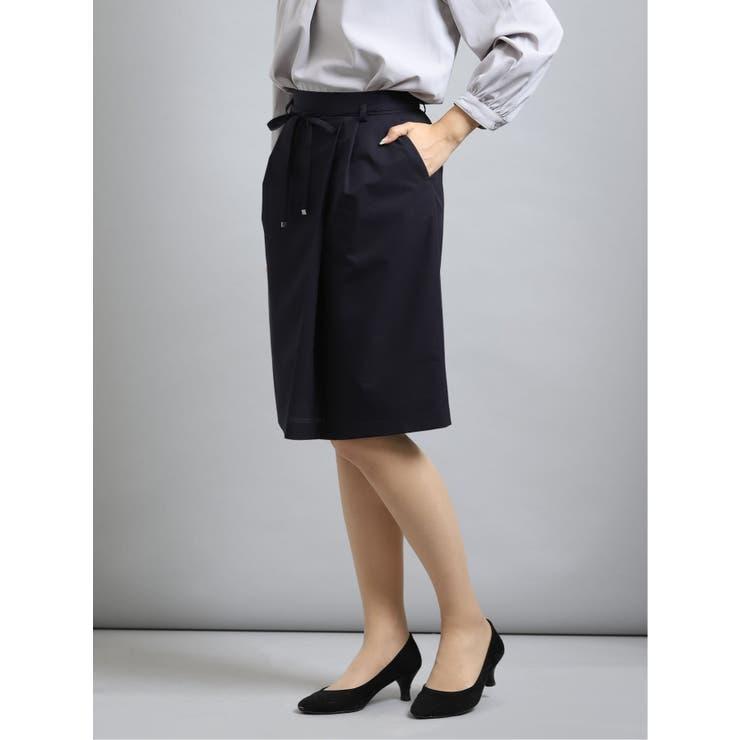 クールドッツ/COOL DOTS セットアップ セミタイトスカート 紺無地 | TAKA-Q | 詳細画像1