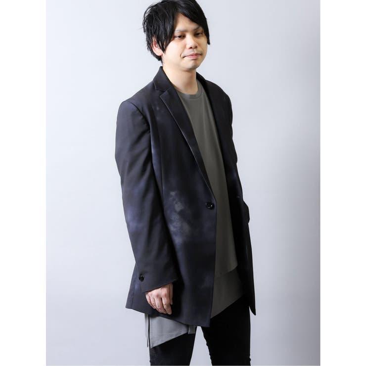 シェラック/SHELLAC 斑プリント シングルジャケット   TAKA-Q MEN   詳細画像1