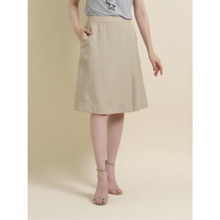 麻調オックス セットアップ フレアースカート   TAKA-Q   詳細画像1