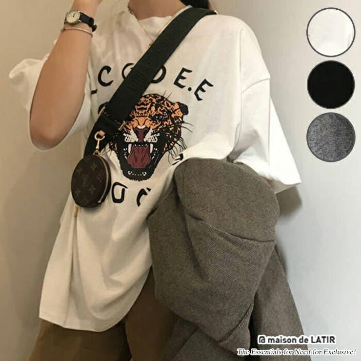 トップス Tシャツ ロゴ   maison de LATIR   詳細画像1